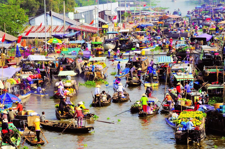 Cai Rang schwimmender Markt