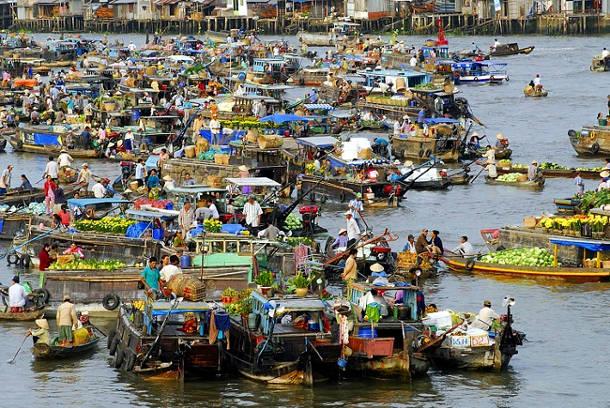 Nga Bay schwimmender Markt