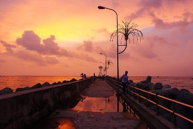 Sonnenuntergang in Dinh Cau